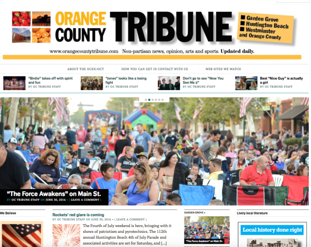 ORANGE COUNTY TRIBUNE is a new news website serving Garden Grove, Huntington Beach and Westminster with news, opinion, arts and sports coverage.