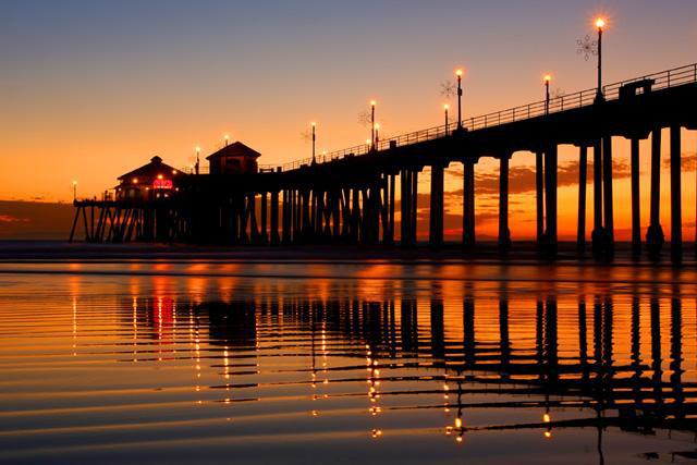 Huntington Beach Main Street Sunset