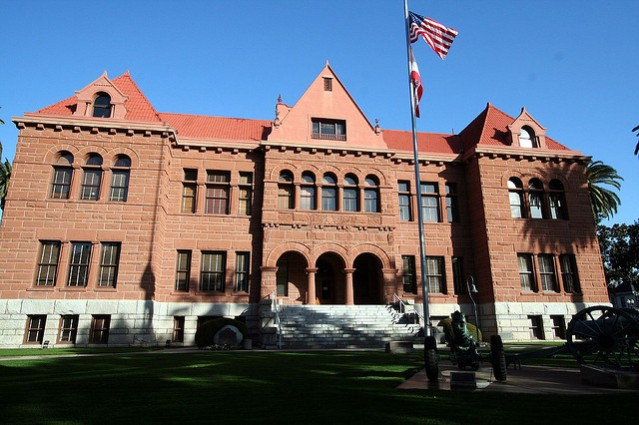 The old Orange County Courthouse in Santa Ana, opened in 1901.