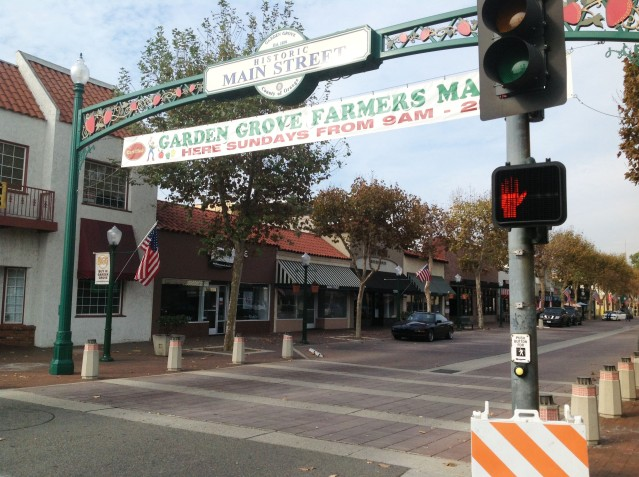 Main Street in Garden Grove as it appears today.
