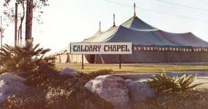A tent meeting of Calvary Chapel in late 60s.
