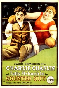 Movie poster of Arbuckle with Charlie Chaplin.