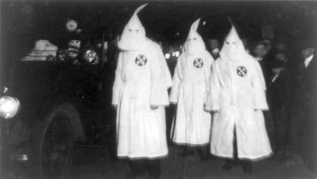 A Klan parade in Virginia in 1922.