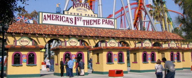 The front gate at Knott's Berry Farm in Buena Park.