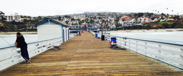 San Clemente shoreline, from the city pier (Tribune photo).