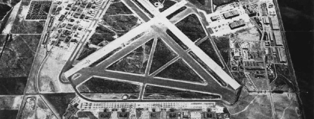 Aerial view of El Toro Marine Corps Air Station in its heyday (Wikipedia photo).