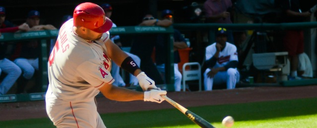 ALBERT PUJOLS hit a two-run home run in the Angels' 5-2 win over the Red Sox Saturday (Flickr/Eric Droust).