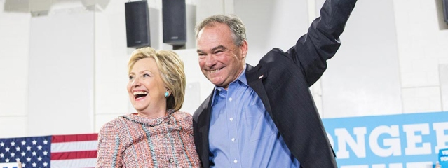 HILLARY CLINTON and Tim Kaine, the Democratic ticket for 2016 (Clinton campaign photo).