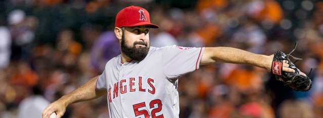 MATT SHOEMAKER was struck in the head with a line drive in Sunday's 4-2 Angel win in Seattle (Flickr/Keith Allison photo).