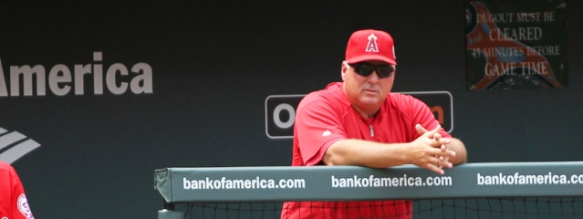 MIKE SCIOSCIA was ejected Tuesday from the Angels' 3-2 loss to the Texas Rangers. (Flickr/Keith Allison).