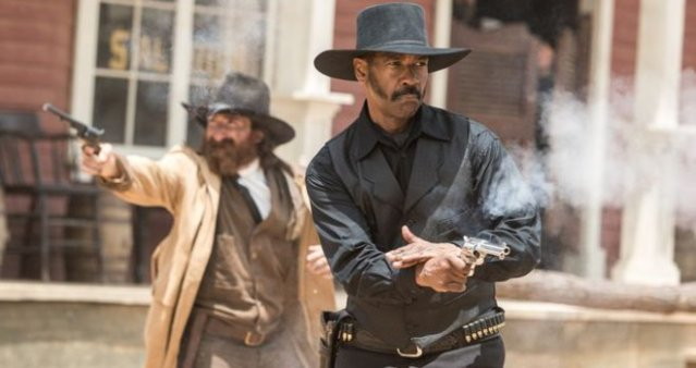 "DENZEL WASHINGTON stars in ""The Magnificent Seven."""