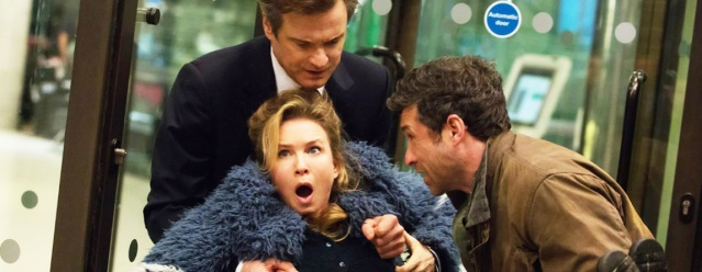 "COLIN FIRTH, Renee Zellweger and Patrick Dempsey star in ""Bridget Jones' Baby."""