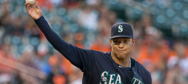 TAIPAN WALKER pitched a gem Tuesday as the Mariners beat the Angels 8-0 (Keith Allison photo).