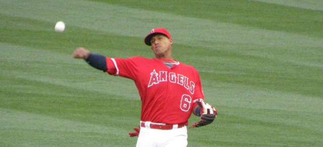 ANDRELTON SIMMONS hit a two-run home run the for Angels in their 7-2 loss Thursday night (Dinur photo).