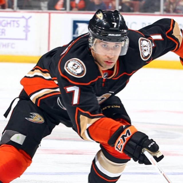 ANDREW COGLIANO scored one of Anaheim's six goals Wednesday night.