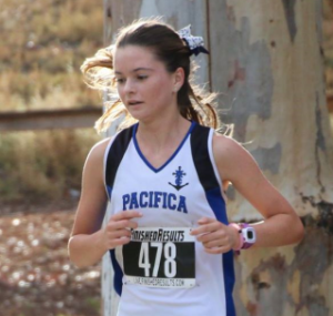 EMILY LEEB of Pacifica took fourth in the Empire League girls cross country finals.