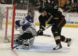 COREY PERRY scores for the Ducks (File photo).