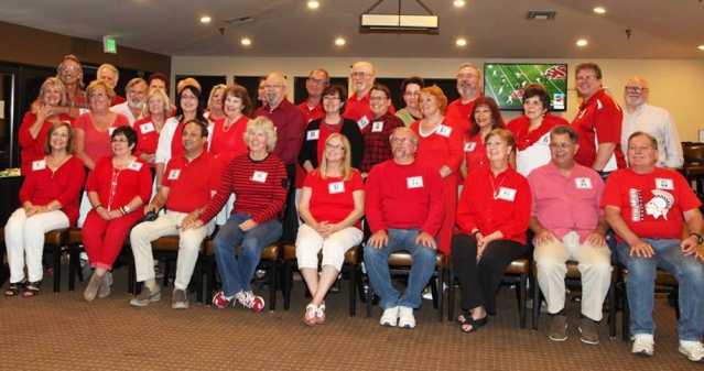 SOME OF THE Garden Grove High Class of 1971 (Photo by Judi De Loof).