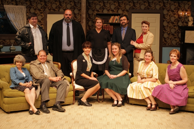 """THE CAST of """"A Murder Is Announced,"""" now on stage at the Westminster Community Playhouse."""