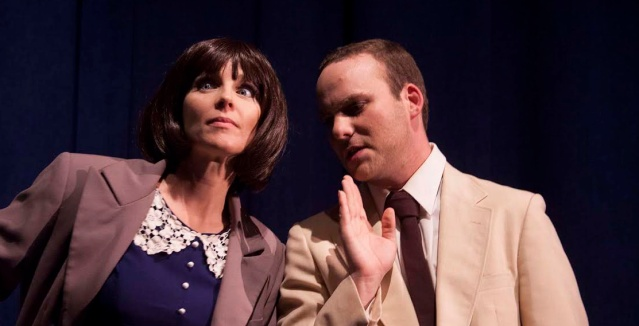 "CHRISTI PERDIGO and Matt Weiner star in ""Get Smart"" at the Huntington Beach Playhouse."