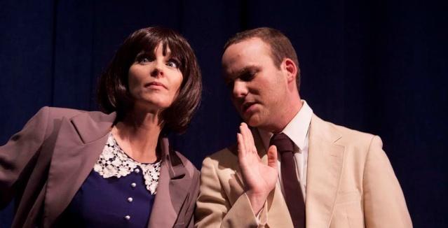 "CHRISTI PERDIGO and Matt Weiner star in ""Get Smart"" at the Huntington Beach Playhouse."
