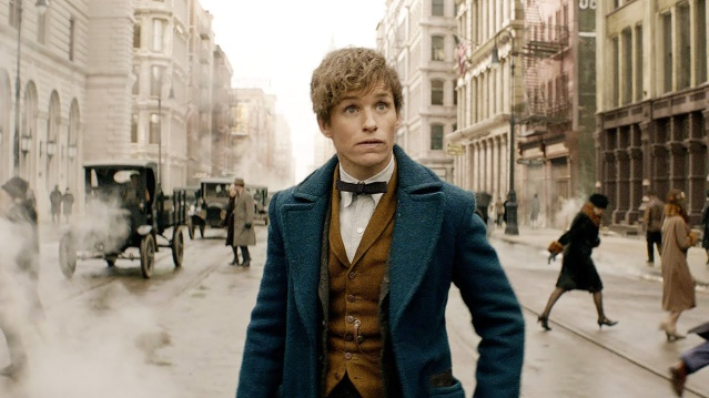 "NEWT SCAMANDER (Eddie Redmayne in 1926 New York City in ""Fantastic Beasts and Where to Find Them."""