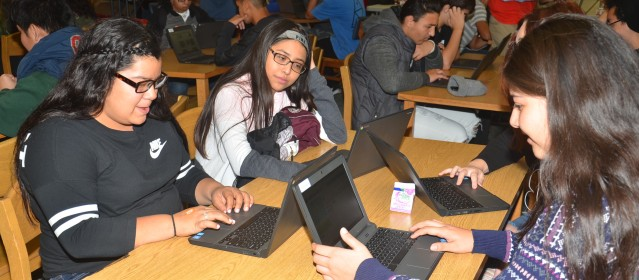 "STUDENTS at Garden Grove High Thursday during ""The Hour of Code."" (OC Tribune photp)."
