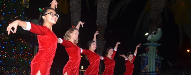 SEVERAL DANCE groups, including Dannsair Dance Academy, The Learning Spot Dance Academy and Foundations Dance company added to the spectacle of Garden Grove's tree-lighting Tuesday night at the Village Green Park (OC Tribune photo).