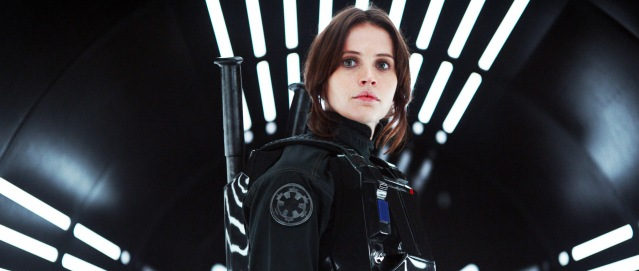 "FELICITY JONES stars in ""Rogue One: A Star Wars Story."""