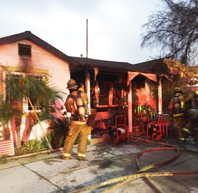 A FIRE in the 12700 block of Dale Street in Garden Grove on Wednesday did an estimated $300,000 in damage (GGFD photo).
