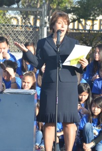 Sandra Ishii, principal of Cook Elementary School (OC Tribune photo).