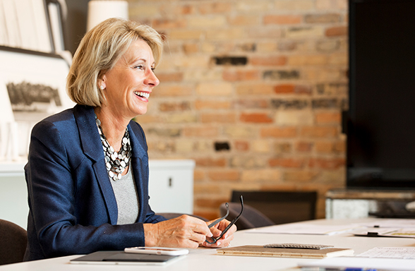 "ELISABETH ""Betsy"" DeVos was approved Tuesday morning by the U.S. Senate as the new Secretary of Education. Vice President Mike Pence cast the deciding vote after the full Senate deadlocked at 50-50 (BVD.com photo)."