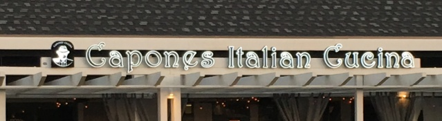 CAPONE'S is located in the Newland Center on Beach Boulevard in Huntington Beach.