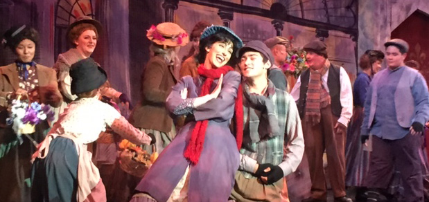 "JENA SLIPP as Eliza, singing ""Wouldn't It Be Loverly"" in the Rose Center Theater Production of ""My Fair Lady"" in Westminster (RCT photo)."