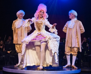"ELABORATE costumes are part of the pleasure in ""Follies,"" now on stage at the Gem Theatre in Garden Grove (OMP photo)."