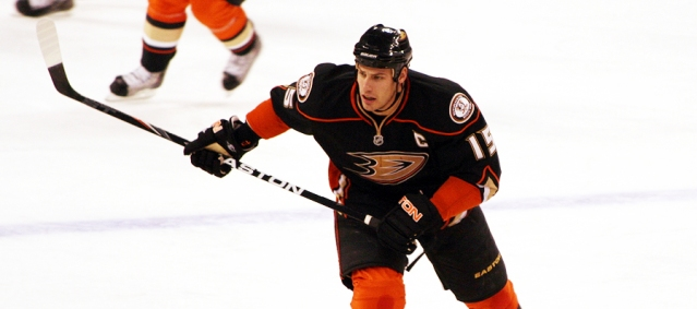 RYAN GETZLAF had two goals and two assists in the Ducks' 6-4 loss to Washington (Flickr/SlidingSideways).