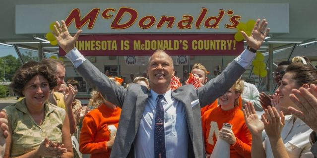 "MICHAEL KEATON stars in ""The Founder,"" the story of how Ray Kroc brought McDonald's to your neighborhood."
