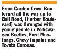 Retorts Cruising Back Into My History Orange County Tribune