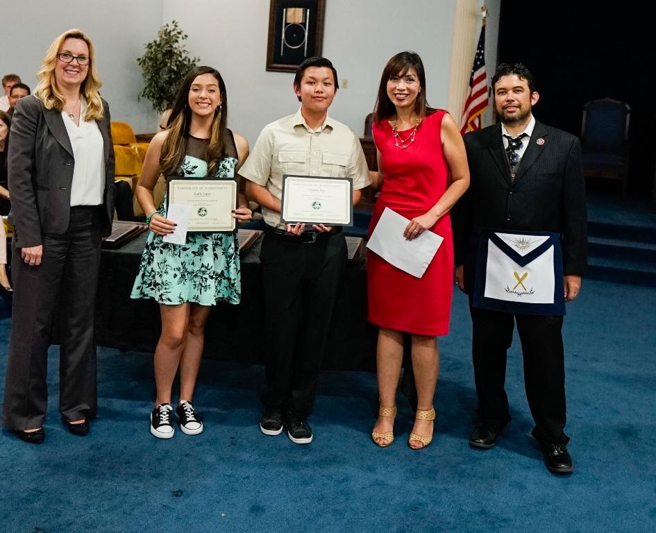 Masons Honor Gg Students In Ceremony Orange County Tribune